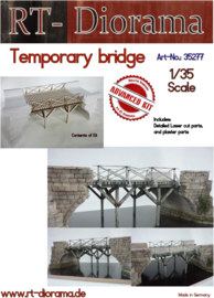 RT35277 1:35 RT-Diorama Tempoary Bridge Plaster parts and Lasercut plywood