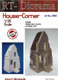 RT35194 1:35 RT-Diorama House Corner Incl. lasered windows and doors!