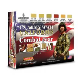CS18 Lifecolor WWII US Army uniforms colours set 2 (This set contains 6 acrylic colors)