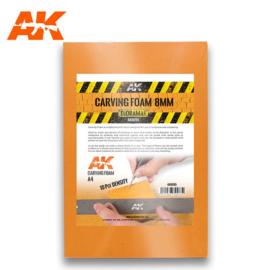 AK8095 Carving Foam 8mm A4