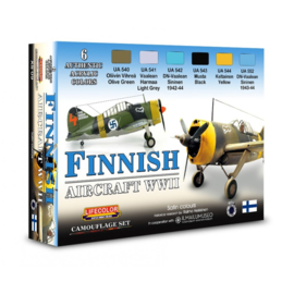 XS09 Lifecolor Finnish Aircraft WWII (This set contains 6 acrylic colors)