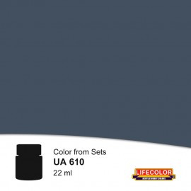 UA610	LifeColor Dunkelgrau 52 (22ml) FS 36076 Part of CS12