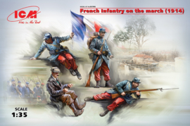 ICM35705 1:35 ICM French Infantry on the march (1914) (4 figures) (new molds
