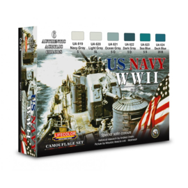 CS24 Lifecolor U.S. Navy WWII Set 1  (This set contains 6 jars of acrylic paints)
