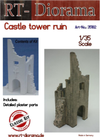 RT35182 1:35 RT-Diorama Burg Tower Ruine