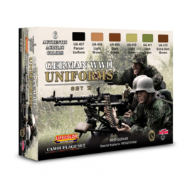 CS05 Lifecolor German WWII military uniforms colours set2  (This set contains 6 acrylic colors)