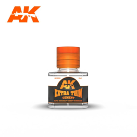 AK12002 Extra Thin Cement glue 40ml (For Plastic)