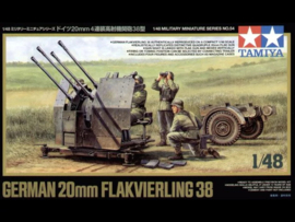 TA32554 1:48 Tamiya  German 20mm Flakvierling 38