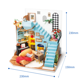 DG141 Robotime Joy's Peninsula Living Room  (DIY kit approxx 1:24)