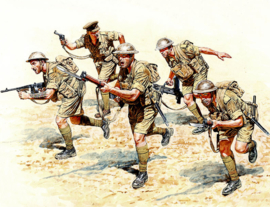 MB35080 1:35 Masterbox British Infantry in Action North Africa WWII (5 Figures)
