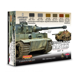 CS03 Lifecolor German WWII Tanks Set2   (This set contains 6 acrylic colors)