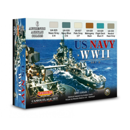 CS25 Lifecolor U.S. Navy WWII Set 2  (This set contains 6 jars of acrylic paints)
