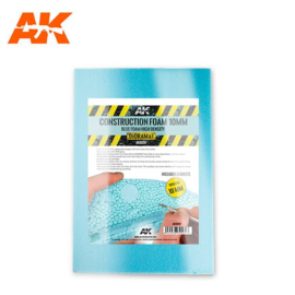 AK8097 2 sheets Construction Foam 10mm Blue foam high density 195X295mm
