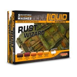 """LP02 Lifecolor Liquid Pigments """"wash"""" Rust Wizard set (6x22ml)"""