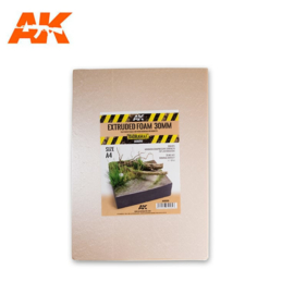 AK8099 Extruded Foam 30mm A4 Size