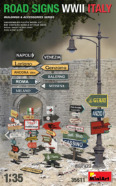 MN35611 1:35 Miniart Road Signs WWII Italy