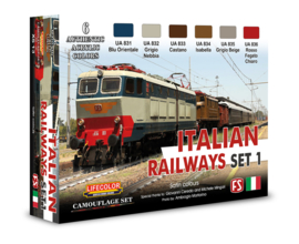 XS13 Lifecolor Italian Railways Set 1 (This set contains 6 acrylic colors)