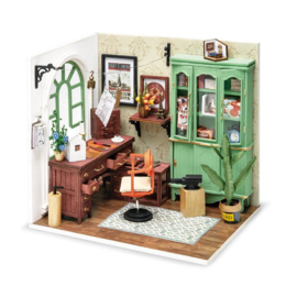 DGM07 Robotime Jimmy's Studio  Home Office (DIY kit approxx 1:24)