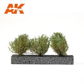 AK8215 DARK GREEN BUSHES 4-5CM 1:35 / 75MM / 90MM