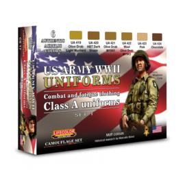 CS17 Lifecolor  WWII US Army uniforms colours set 1 (This set contains 6 acrylic colors)