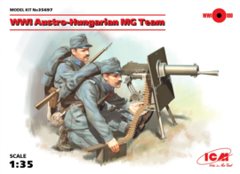 ICM35697 1:35 ICM WWI Austro-Hungarian MG Team (2 figures) (new molds)