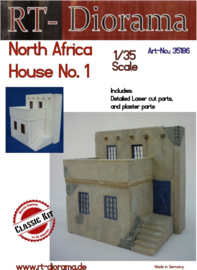RT35186 1:35 RT-Diorama North African House No. 1 incl lasered windows and doors!