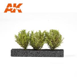 AK8216 LIGHT GREEN BUSHES 4-5CM 1:35 / 75MM / 90MM