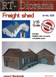 RT35211 1:35 RT-Diorama Freight Shed (Modular System) Incl. lasered windows and doors!