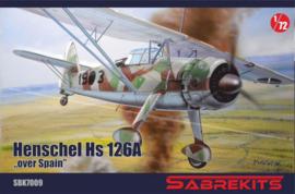 """SBK7009 1:72 Sabrkits Henschel HS 126A """"over Spain"""""""