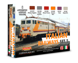 XS14 Lifecolor Italian Railways Set 2 (This set contains 6 acrylic colors)