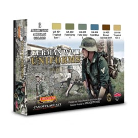 CS04 Lifecolor German WWII Uniforms Set 1  (This set contains 6 acrylic colors)