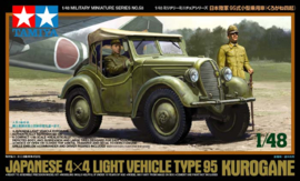 TA32558 1:48 Tamiya Japanese 4x4 Light Vehicle Type 95 Kurogane incl figures