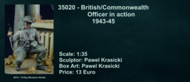 DD35020 Bristish/Commonwealth officer in action 1943-45 (1 figure unpainted unassembled)