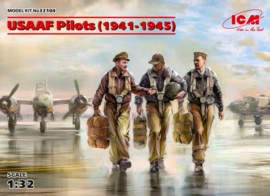 ICM32104 1:32 ICM USAAF Pilots (1941-1945) (3 figures) (new molds)