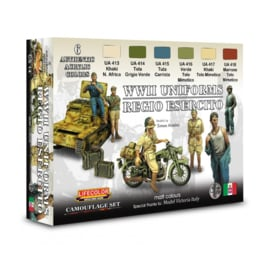 CS14 Lifecolor Italian WWII Italian uniforms colours (This set contains 6 acrylic colors)