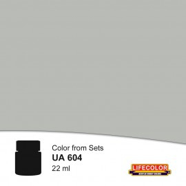 UA604  	LifeColor Mittelgrau (22ml) DKM 51 var FS36307 Part of set CS09