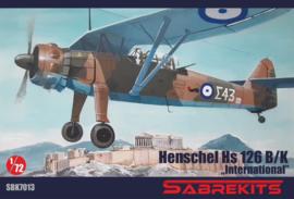"""SBK7013 1:72 Sabrkits Henschel HS 126B/K """"International"""""""