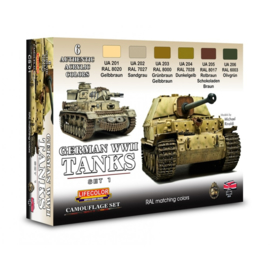CS01 Lifecolor German WWII Tanks Set1  (This set contains 6 acrylic colors)