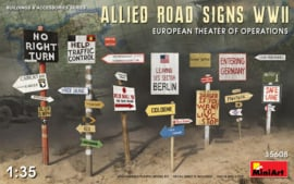 MN35608 1:35 Miniart Allied Road Signs WWII European Theater of Operations
