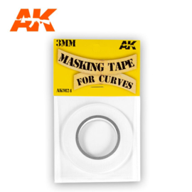 AK9124 MASKING TAPE FOR CURVES 3 MM. 18 METERS LONG.