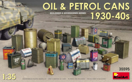MN35595 1:35 Miniart Oil & Petrol Cans 1930s-1940s