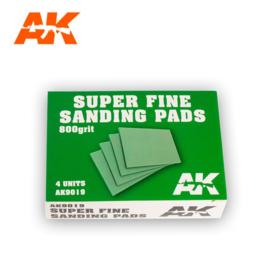 AK9019 SUPER FINE SANDING PADS 800 GRIT. 4 UNITS.