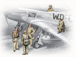 ICM48083 1:48 ICM USSAF Pilots and Ground Personnel (1941-1945)