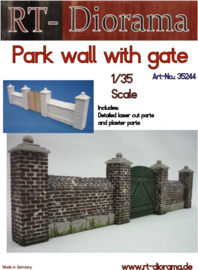 RT35244 1:35 RT-Diorama Park wall with gate