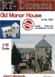 RT35241 1:35 RT-Diorama Old Manor House  Incl. lasered door and windows