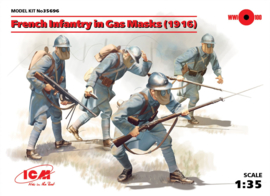 ICM35696 1:35 ICM  French Infantry in Gas Masks (1916) (4 figures)New Molds
