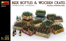 MN35574 1:35 Miniart Beer Bottles & Wooden Crates