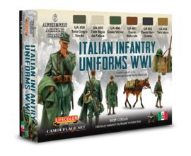 CS50 Lifecolor Italian Infantry Uniforms WWI (6x22ml)