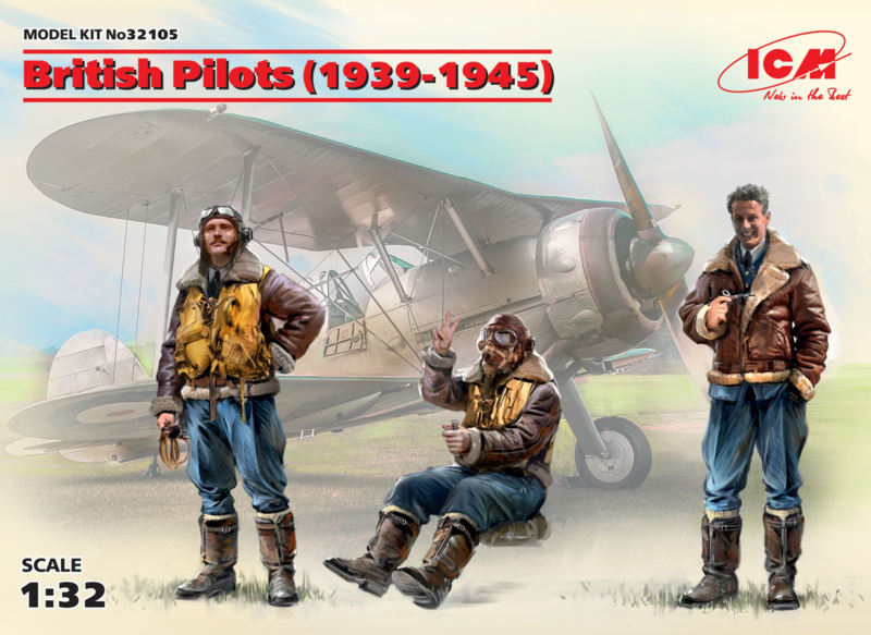 ICM32105 1:32 ICM British Pilots (1939-1945) (3 figures) (100% new molds)