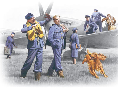 ICM48081 1:48 ICM RAF Pilots and Ground Personnel (1939-1945)